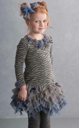 "Biscotti ""Animal Appeal"" Knit Dress w/Sassy Net Skirt"