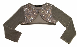 "Biscotti ""Deck the Halls"" Silver Shimmery Shrug *FINAL SALE*"