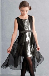 "Biscotti ""Glitterati"" Amazing Black Chiffon Party Dress ""PREORDER"""