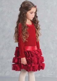 "Biscotti ""High Drama"" Ruby Red Holiday Dress ""PREORDER"""