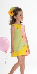 "Biscotti ""Mod About You"" Fun Geometric A-Line Dress<br>Sizes 2T-10"