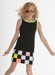 "Biscotti ""Modern Angle"" Fun Summer Sleeveless Ponte Knit Mod Dress<br>Sizes 7-14"