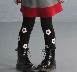 "Biscotti Precious Black Flower ""School of Rock"" Leggings"