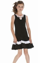 "Biscotti ""Pretty Chic"" Black & White Versatile Knit Dress"