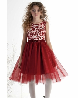 "Biscotti ""Rose Rhapsody"" Red & Ivory Classy Hi-Lo Dress *PREORDER*"
