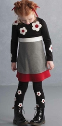 "Biscotti ""School of Rock"" Black & Red Colorblock Dress *PREORDER*"