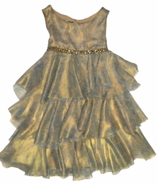 "Biscotti Stunning ""Gilded Dove"" Bronze Petal Shift Dress ""PREORDER"""