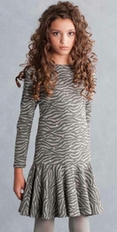 "Biscotti Super Fun ""Animal Appeal"" Grey Knit Dress"