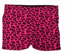 Butterflies & Zebras Fuschia Leopard Boy Dance Short<br>One Size Fits 7-10