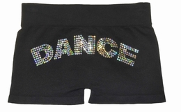 Butterflies & Zebras Sequin Black Boy Dance Short<br>One Size Fits 7-14