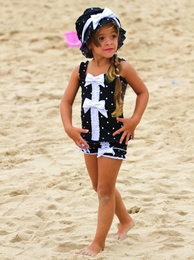 "Chichanella Bella ""Licorice Twist"" Two Piece Dotted Swimsuit<br>Sizes 2T - 8"