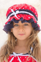"Chichanella Bella ""Lovebug Lucy"" Red Bonnet *PREORDER*<br>Sizes 2T - 10"