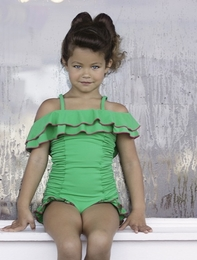 "Chichanella Bella ""Pixy Stix"" Gorgeous Green One Piece Swimsuit<br>Sizes 2T - 10"