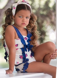 "Chichanella Bella ""Seaside Retreat"" Retro Two Piece Swimsuit *PREORDER*<br>Sizes 2T - 8"