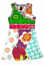 Desigual Adorable Empire Waisted Cross Over Sundress<br>Sizes 5/6, 11/12 & 13/14