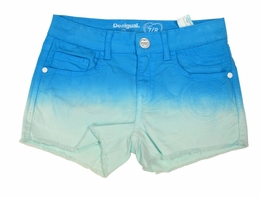 "Desigual ""Blue Lake"" Stunning Denim Shorts<br>Sizes 9/10 & 11/12"