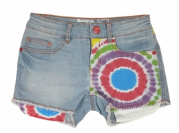 "Desigual ""Celeste"" Tie Dye Cropped Demin Shorts *FINAL SALE*"