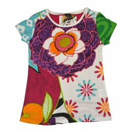 Desigual Fabulous Cap Sleeve Floral Print Tee<br>Grab It Quick!! Sizes 5-14