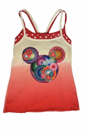 Desigual Fuscia Rosy MICKEY Mouse Printed Double Strap Tank<br>Almost Gone! Sizes 5-14