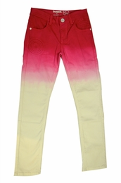 "Desigual ""Rosa"" Fading Red and White Denim Skinny Jeans *FINAL SALE*"