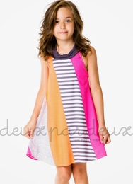 "Deux par deux ""Eye On Fashion"" Swingy Sundress"
