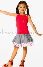 "Deux par deux ""La Cerise Sur Le Gateau"" Red Drop Dress"
