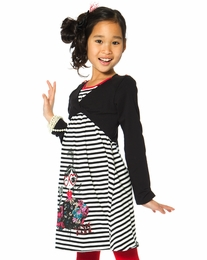 "Deux par Deux ""Music Hall"" 2 in 1 Stripe Jersey Dress"