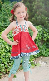Dream Spun Aqua Leggings & Love Letters Halter Top Two Piece Set *PREORDER*<br>Sizes 2T - 10