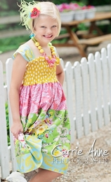 Dream Spun Multi Colored Layer Cake Sun Dress<br>Sizes 2T - 10