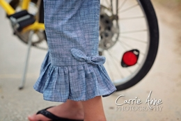 Dream Spun Must Have Chambray Ruffle Pants-SOLD OUT!