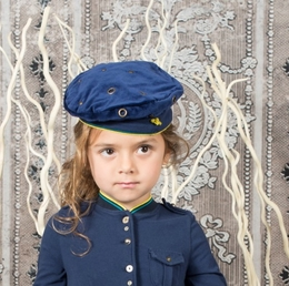 "Eliane et Lena Amiral Pepper ""Suzanna"" Navy Hat *FINAL SALE*"