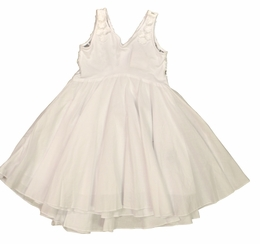 "Eliane et Lena ""Flore"" Gorgeous White Portrait Dress"