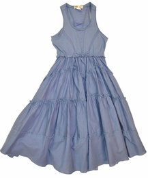 "Eliane et Lena ""Kira"" Blue Spring Swingy Tank Dress"