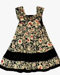 "Eliane et Lena ""Petunia"" Pleated Front Floral Dress"