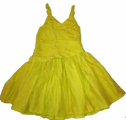"Eliane et Lena ""Rensee"" Yellow Cotton Voile Sundress"