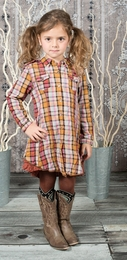 "Eliane et Lena Rock 'n' Folk ""Sindy"" Fall Plaid Dress *FINAL SALE*"