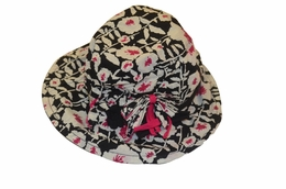 "Eliane et Lena ""Ura"" Sweet Black and Floral Spring Hat"