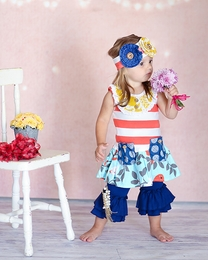 "Giggle Moon Beautiful ""New Song"" Mabel Dress and Capri Leggings Set"