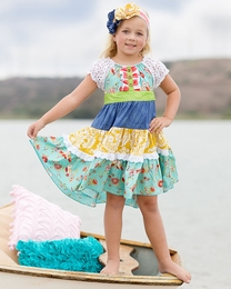 "Giggle Moon Beautiful ""New Song"" Twirling Dress *PREORDER*<br>Sizes 12M-8"