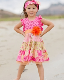 "Giggle Moon Beautiful Tiered ""Morning Glory"" Party Dress<br>Sizes 18M-3T"
