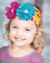 "Giggle Moon ""Golden Crown"" Floral Head Wrap<br>*PREORDER*"