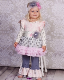 "Giggle Moon ""Graced"" Gorgeous Tutu Dress & Legging Two Piece Set<br>*PREORDER*"