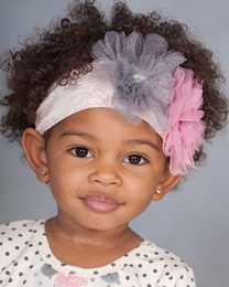 """Giggle Moon """"Graced"""" Pink & Grey Soft Knit Headband<br>*PREORDER*"""
