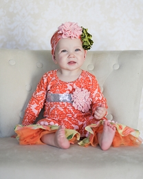 "Giggle Moon ""Harvest Fields"" Pink and Orange Baby Longall *PREORDER*"