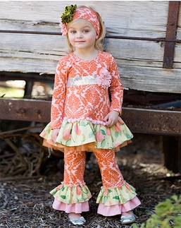 """Giggle Moon """"Harvest Fields"""" Pink and Orange Two Piece Swing Set *FINAL SALE* SOLD OUT!"""