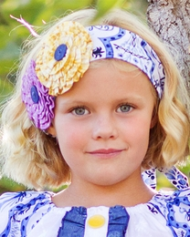 "Giggle Moon ""Heaven Sent"" Floral Cotton Headwrap"