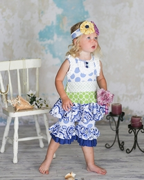 "Giggle Moon ""Heaven Sent"" Precious Blue & Green Swing Set"