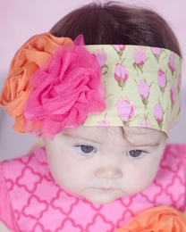 "Giggle Moon ""Morning Glory"" Gorgeous Floral Head Wrap<br>One Size  ***FLYING FAST!"