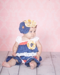 "Giggle Moon ""New Song"" Baby Eyelet Shortall *PREORDER*<br>Sizes 3M-9M"