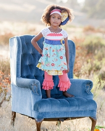 "Giggle Moon ""New Song"" Madison Dress & Legging Two Piece Set *PREORDER*<br>Sizes 12M-10"